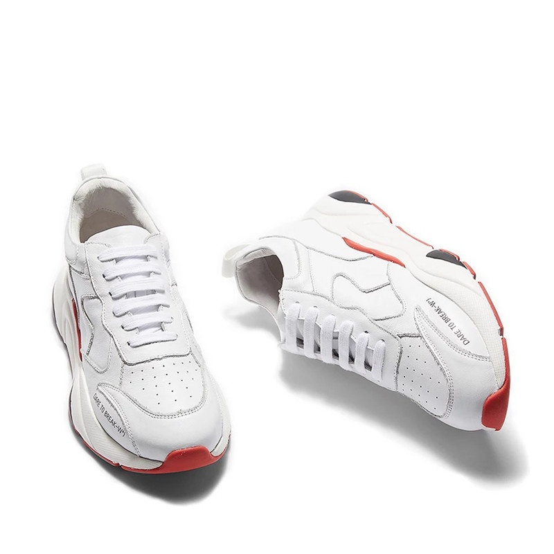 Casuales Los Delivr Zapatillas Hombre Hombres Zapatos rojo Blanco Negro Lujo Para blanco 2019 black Deporte Moda De Cuero Plush Genuino 6r6vwSBq