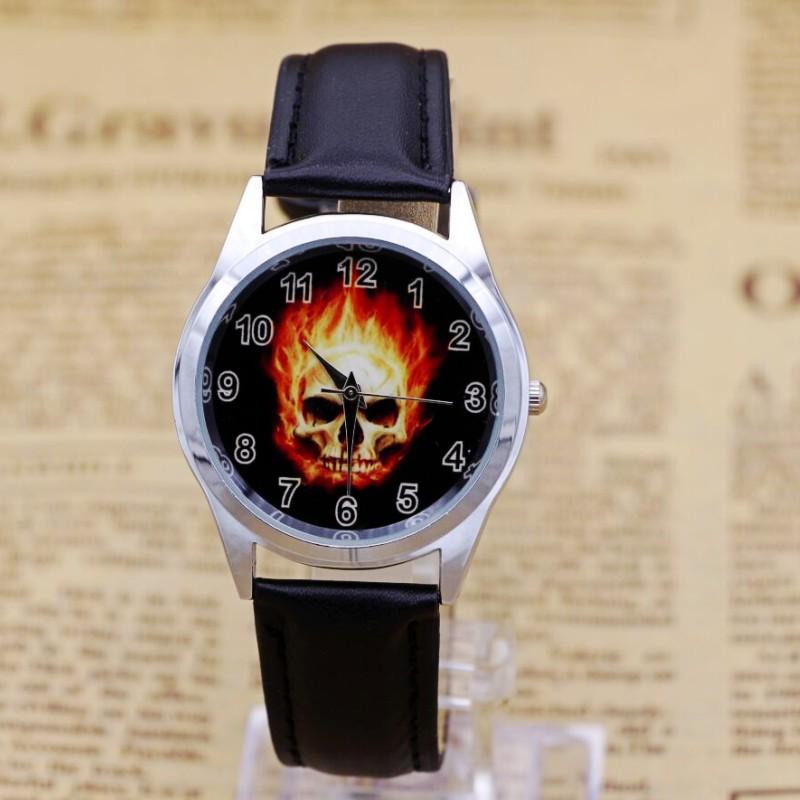 New Fashion Children Boys Super Hero Cool Skull Quartz Digital Watches Students Kids Leather Strap Kids Watch