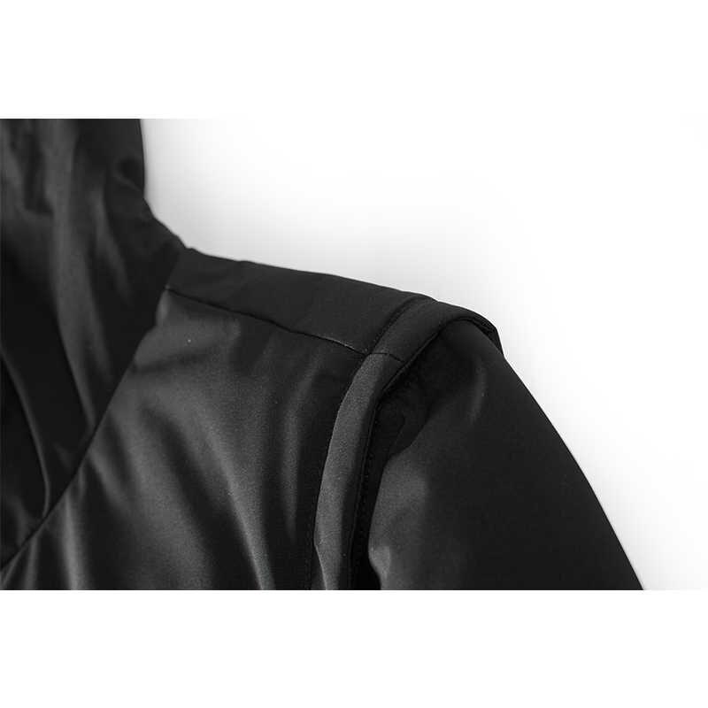 Enjeolon ブランド厚み冬ダウンフード付きジャケット男性ダウンコート男性パーカーコート 3XL ダウンパーカー男性 YR2706