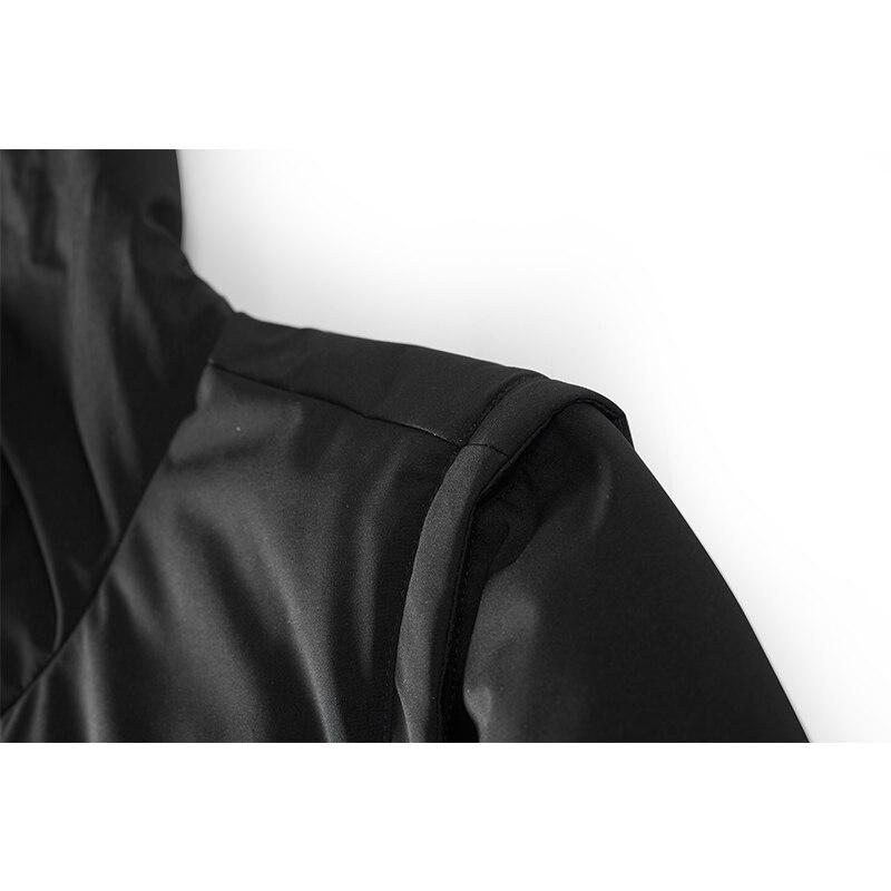Enjeolon brand thicken winter down hooded jacket men light down coat for men hoodies parka coat 3XL down parka male YR2706