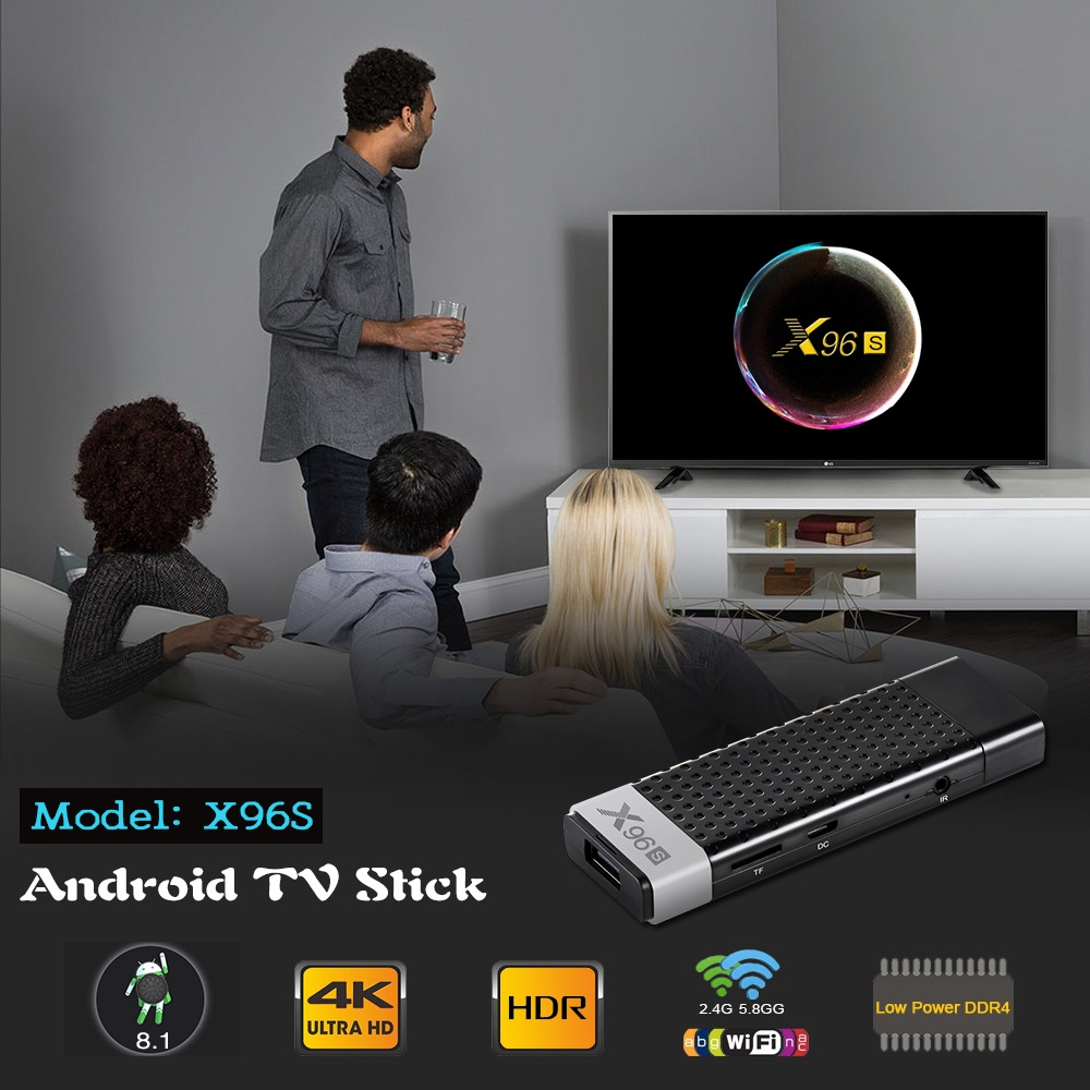 Smart 4 K Android 8.1 TV Box X96S Amlogic S905Y2 DDR4 4 GB 32 GB X96 Mini PC TV Stick 5G WiFi Bluetooth 4.2 TV Dongle lecteur multimédia - 2