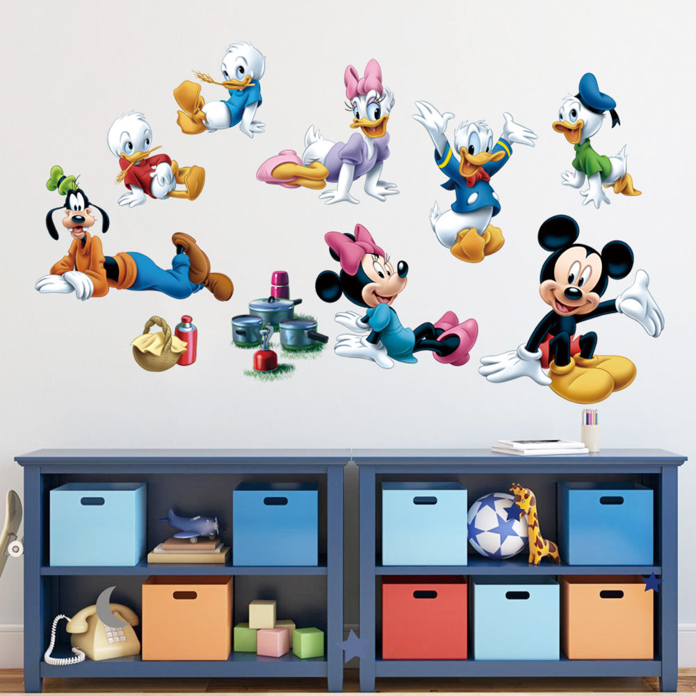 Large mickey mouse wall stickers the new sticker design aliexpress com cute mickey minnie mouse family wall sticker large amipublicfo Image collections