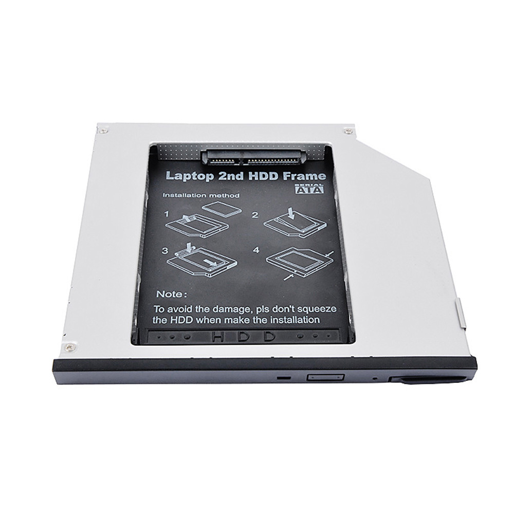 2nd Hdd Caddy 95mm Sata To Aluminum Ssd Drive Case Dvd Cd Rom Hard Tebal For Dell E6400 Laptop Notebook