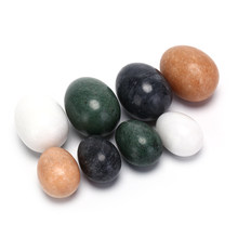 Jade Egg Natural Rose Quartz Yoni Egg Crystal Sphere For Kegel Exercise Pelvic Floor Muscle Vaginal Exercise Ben Wa Ball(China)
