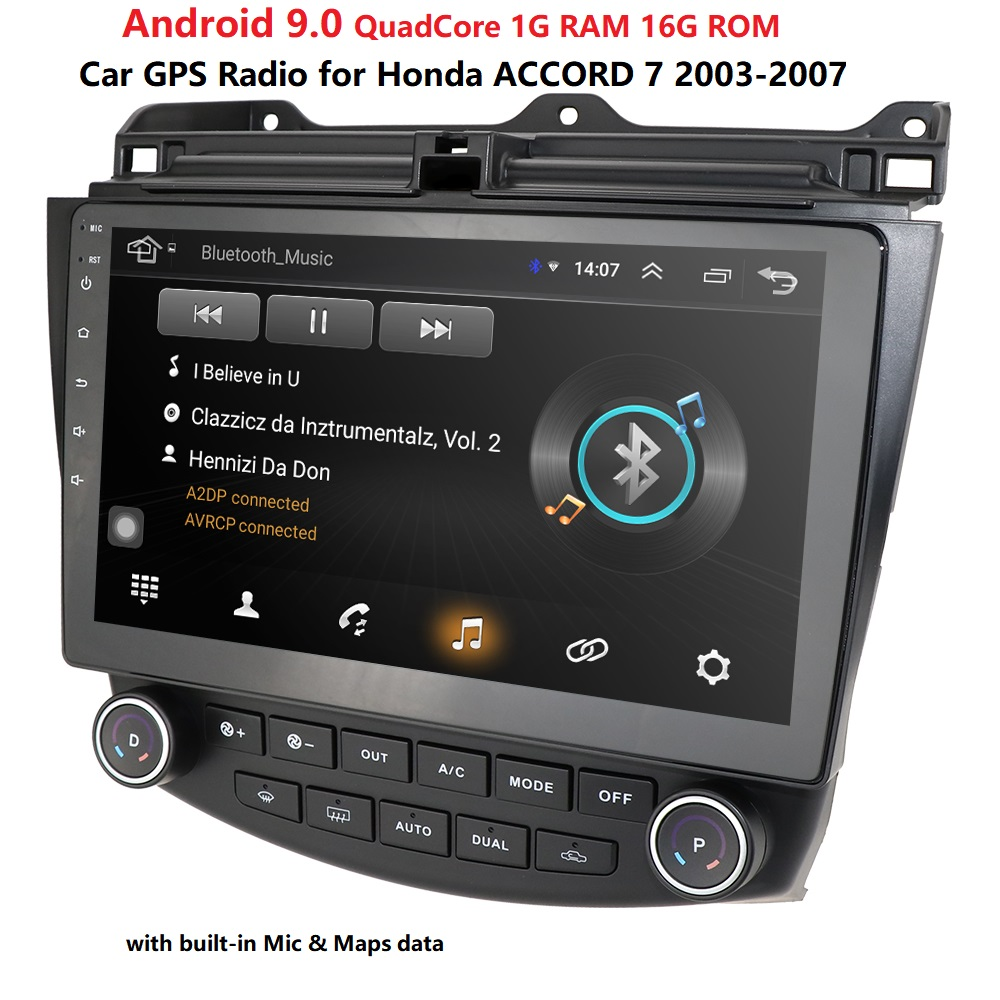 android 9.0 car no dvd gps navigation player for <font><b>Honda</b></font> <font><b>Accord</b></font> 7 2003-2007 car radio video player gps navigation car stereo audio image