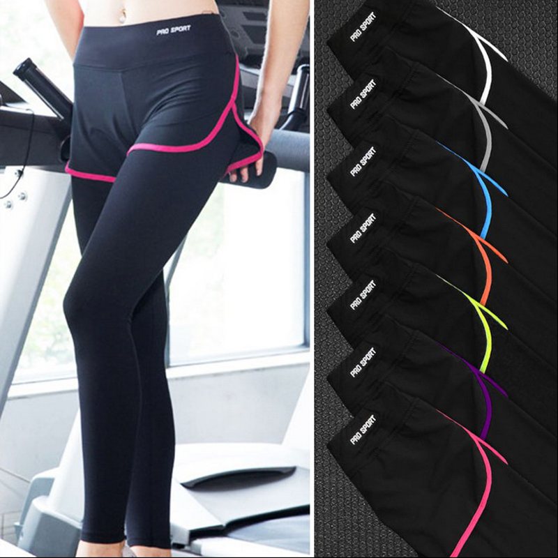 professional women Sports & leisure pants super stretch tight Shorts + Pants sets active  outdoor running Fitness Pants