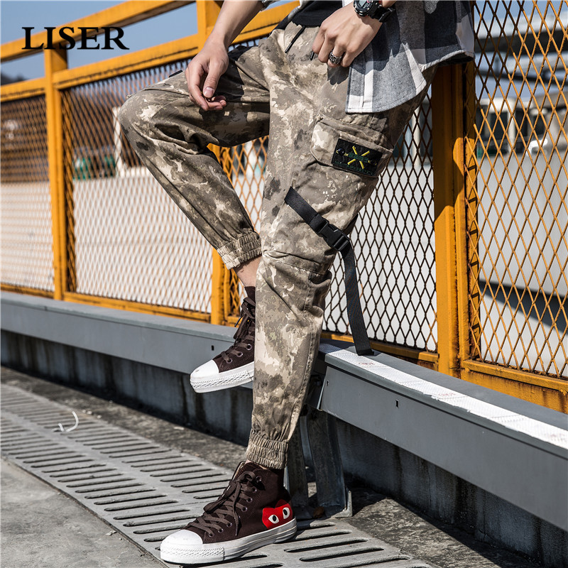 Liser Camouflage Pants Men 2019 Joggers Pants Streetwear Sweatpants Pantalones Hombre Pockets Loose Hip Hop Cargo Pants Men