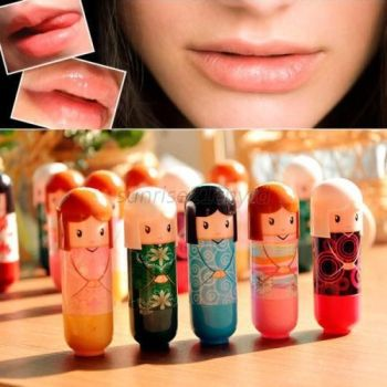 New 1 Piece Cute Doll Lip Balm Lasting Moisture Pure Natural Lipstick Lip Gloss Cream Brand Makeup WD2 Lips Balm