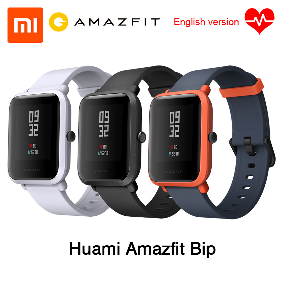 [English Version] Xiaomi Huami Amazfit Bip BIT PACE Lite IP68 Waterproof Youth Mi Fit Glonass Smart Watch+GPS English Language xiaomi mi 8 se 4g phablet english and chinese version