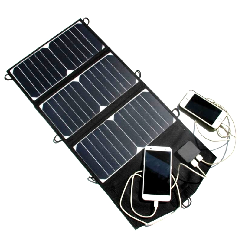 ФОТО Sunpower 21W Portable Solar Charger Foldable Solar Panel Battery Charger For Mobile Phone Dual USB High Quality Free Shipping