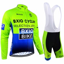 Bxio Brand Long Sleeve Bike Jersey Ropa Ciclismo Lycral Cycling Jersey Set Bicicleta Maillot MTB Autumn Bicycle Clothes 004MIX