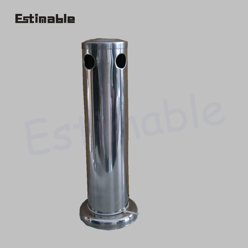 Home brew Two holes stinless steel beer tower silver draf beer tower TS-8113 WITHOUT BEER TAP bar accessoriesHome brew Two holes stinless steel beer tower silver draf beer tower TS-8113 WITHOUT BEER TAP bar accessories