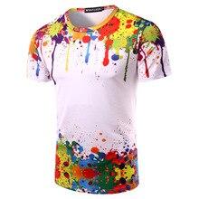 Новый 2016 мужская футболка фитнес 3D напечатаны футболки футболка homme случайные camisetas моды топы и тройники бренд одежды