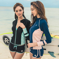 Three Sets Of 2017 South Korean Female Swimsuit New Long Sleeved Pants Sexy Cover Belly Big