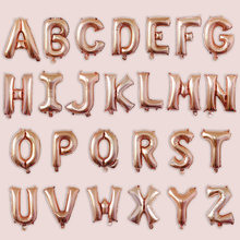 BRIDAY 1pc 16inch Letter Balloon Rose Gold Silve Number Foil Balloons Happy Birthday Party Wedding@1(China)