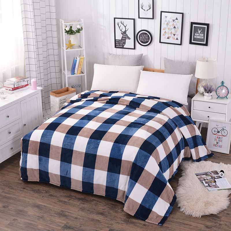 New super soft air-condition coral fleece flannel fabric blanket baby sofa throw plaid cartoon winter qulit plush bedsheet