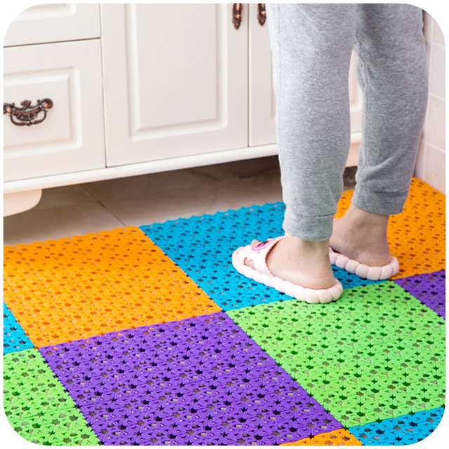 1 Pcs Multifunctional Pe Anti Slip Floor Mat Bathroom Kitchen Dining Room Table Placemat Love