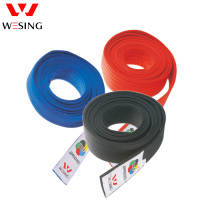 Karate Belt Approved By WKF Cau Use For Kata Kumite Uniform 100 Cotton Black Red Blue