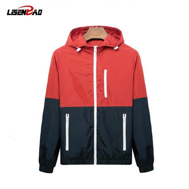 2016 spring new men's jacket  sportswear Men Fashion Thin Windbreaker jacket Zipper Coats Outwear men's clothing