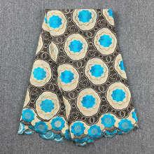 Encaje de gasa de algodón suizo africano de alta calidad, color caqui, azul turquesa, envío gratis, 5Yds, lote de 100%, encaje de algodón para boda