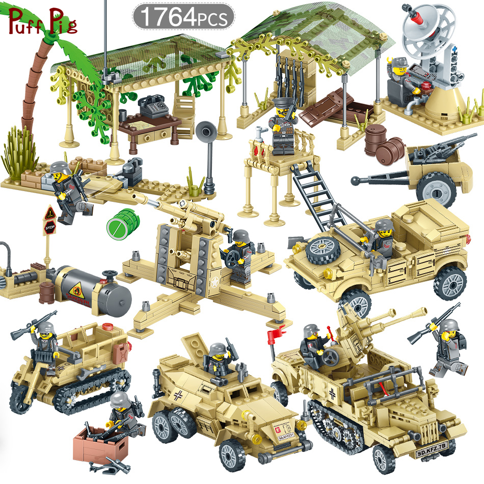 WW2 World War II Soviet Army Soldiers Figures Weapon Gun Vehicles Military Building Block Set Compatible Legoe City Bricks Toys