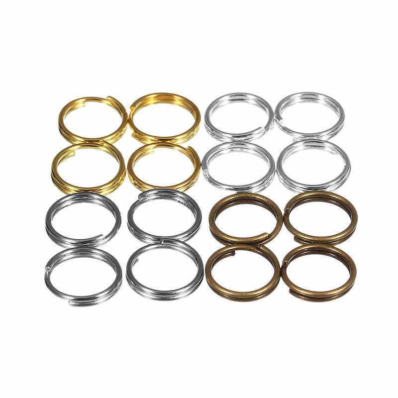 500Pcs 4/5/6/8/10mm Metal Jewelry Findings Open Double Loops Jump Rings & Split Ring For jewelry Making DIY Handmade Accessories