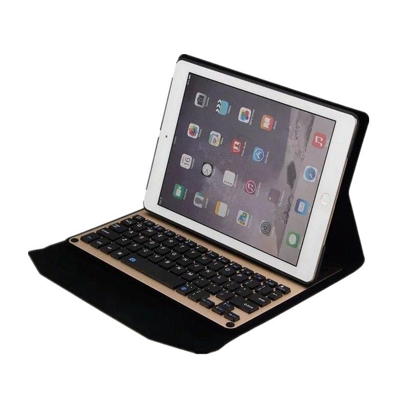 Ultra-mince en aluminium sans fil Bluetooth clavier housse en cuir pour Apple iPad Air 1 2 tablette étui de clavier coque de protection