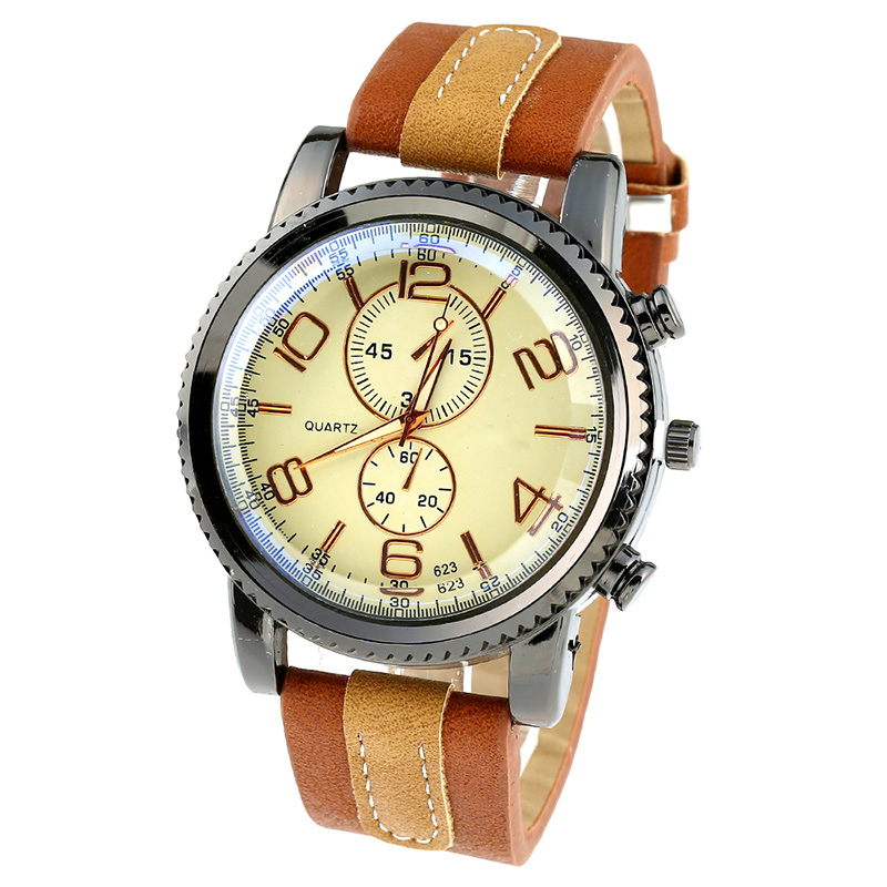 compare prices on mens platinum watches online shopping buy low gnova platinum pu leather watch men fashion wristwatch reloj young man retro sport sub dials classic