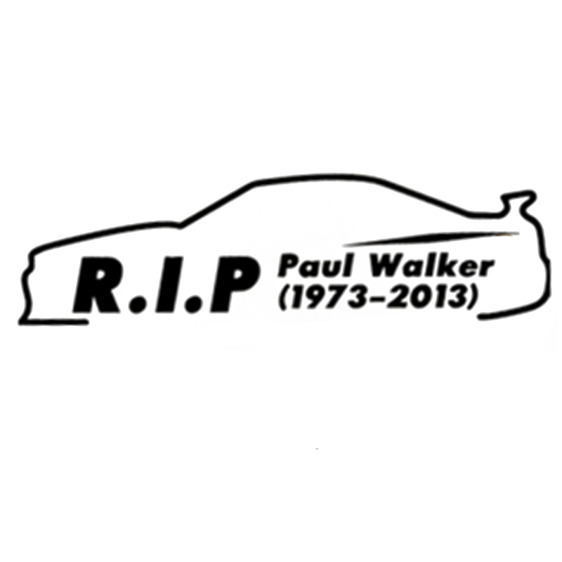 hot sale car styling paul walker aufkleber bumper sticker fashion vinil decal in car stickers. Black Bedroom Furniture Sets. Home Design Ideas
