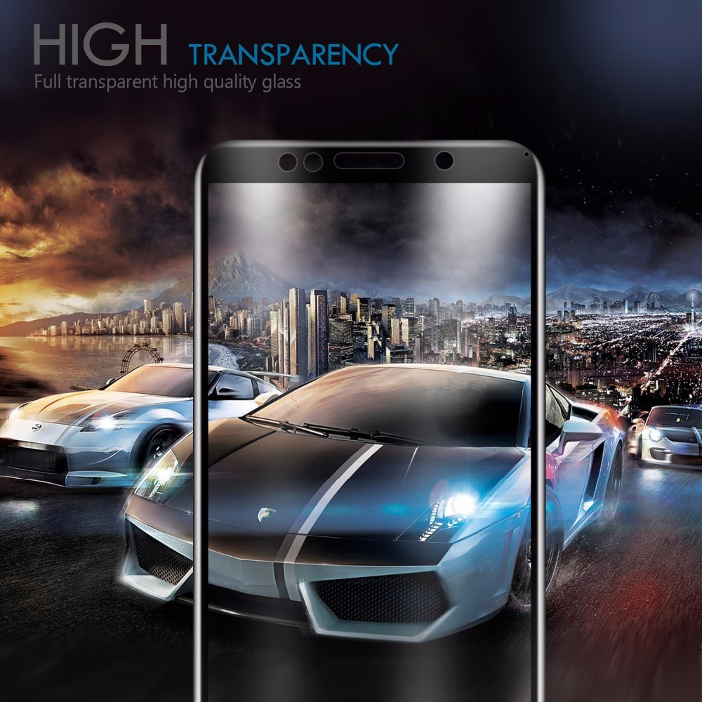 Full cover Tempered Glass For HUAWEI Y5 PRIME 2018 screen protective case 9H toughened black frame all edges on smartphone in Phone Screen Protectors from Cellphones Telecommunications