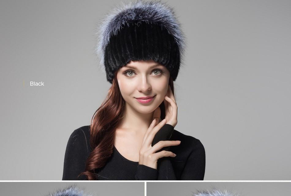 fur woman winter hats PCM012 (22)