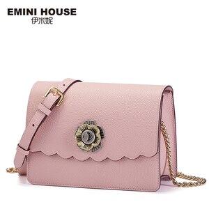 Image 2 - EMINI HOUSE Camellia Crossbody กระเป๋าผู้หญิงกระเป๋าถือหรูผู้หญิงออกแบบกระเป๋าแยกหนังกระเป๋าสะพาย Messenger กระเป๋า