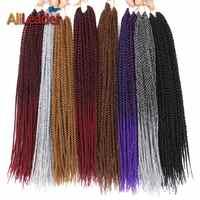 AliLeader petit sénégalais torsion cheveux Crochet tresses résistant à la chaleur synthétique Ombre tresses bourgogne noir gris Crochet cheveux