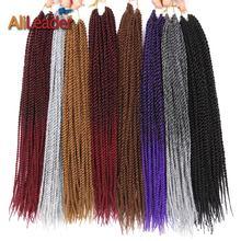 AliLeader Senegalese Twist Hair Crochet Braids Heat Resistant Synthetic Ombre Burgundy Blonde Black