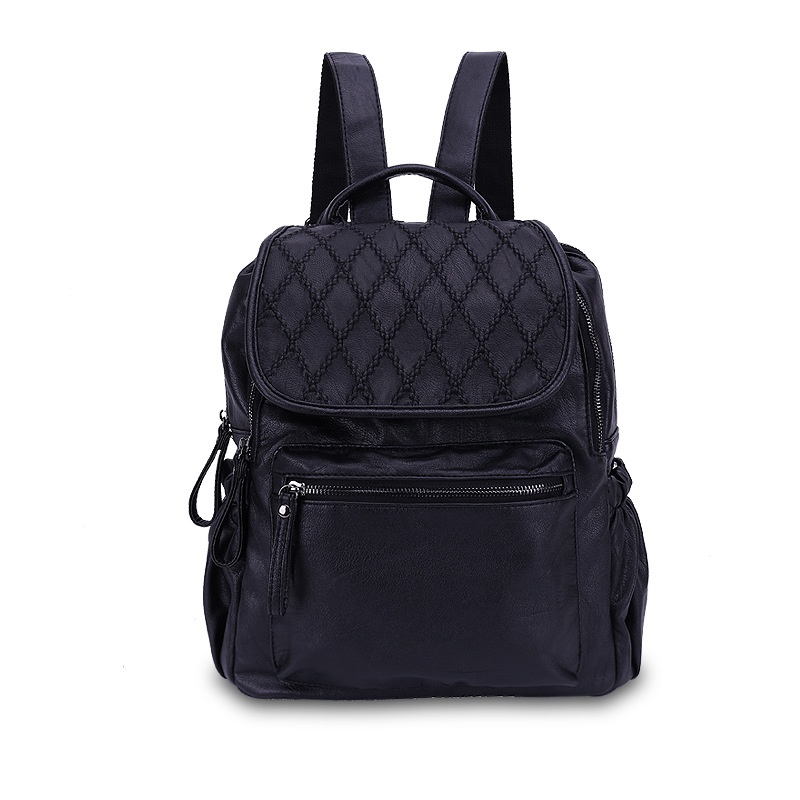 Women Backpack High Quality Real Leather Mochila Escolar School Bags For Teenagers Girls Top-handle Backpacks Herald Fashion