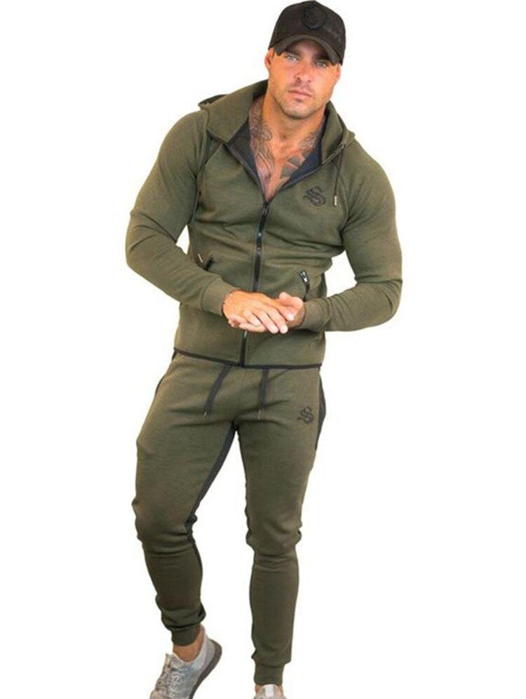 a943dcdab571d Odzież sportowa dresy mężczyźni zestawy do biegania siłownia dres Fitness  Body building męskie bluzy z kapturem