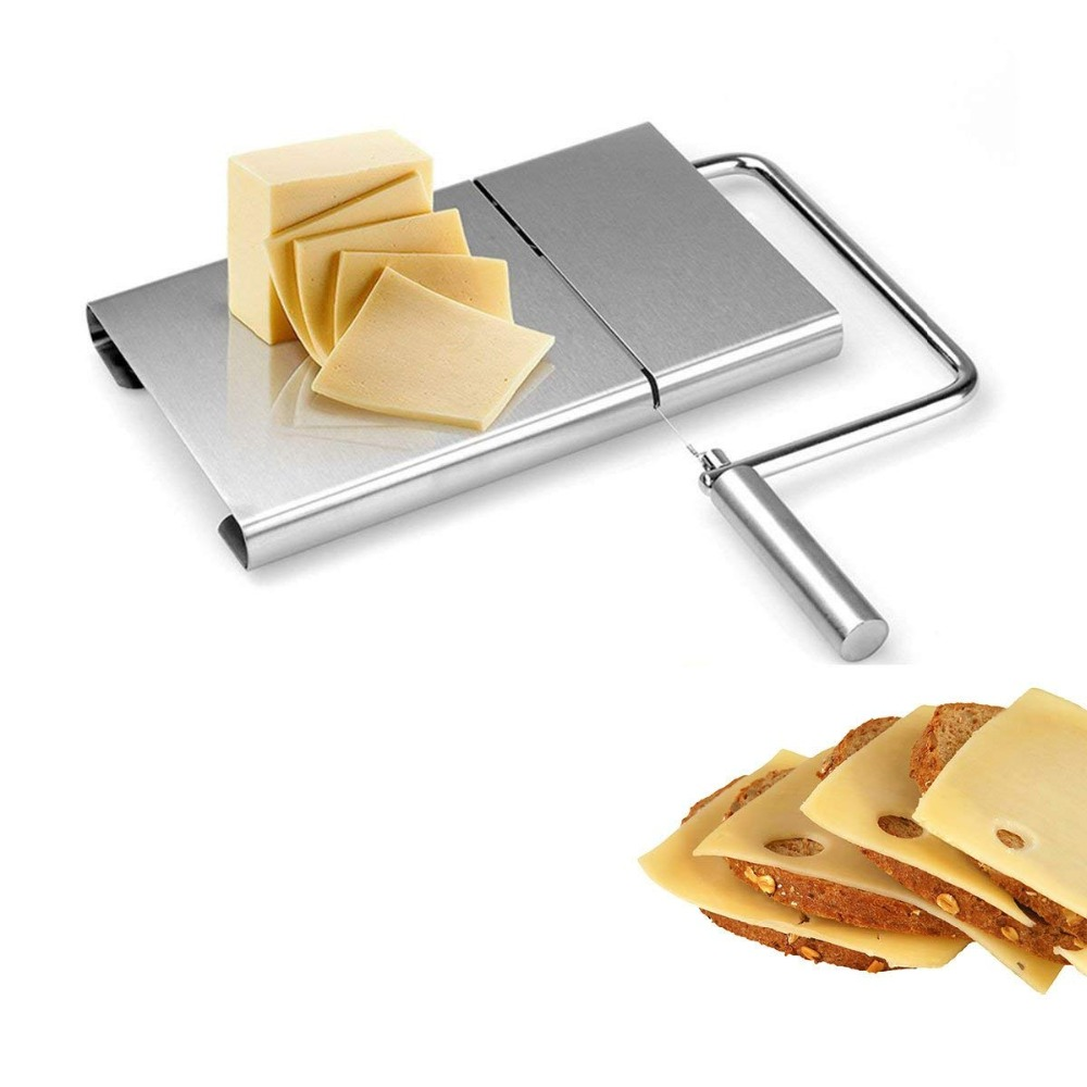 <font><b>Cheese</b></font> <font><b>Slicer</b></font> <font><b>Stainless</b></font> <font><b>Steel</b></font> <font><b>Wire</b></font> <font><b>Cheese</b></font> <font><b>Slicer</b></font> Butter Cutter With Board <font><b>Cheese</b></font> Cutting Tools Kitchen Accessories LK0055 image