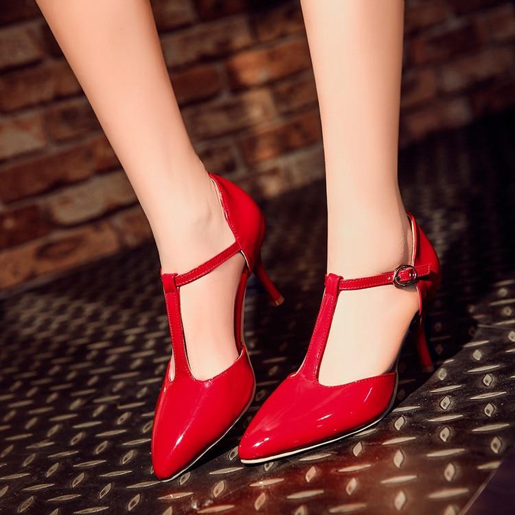2017 Real Rushed Medium(b,m) Tenis Feminino Ladies Shoes Big Size 34- 45 Sandals Ladies Lady Shoes High Heel Women Pumps C-30-1