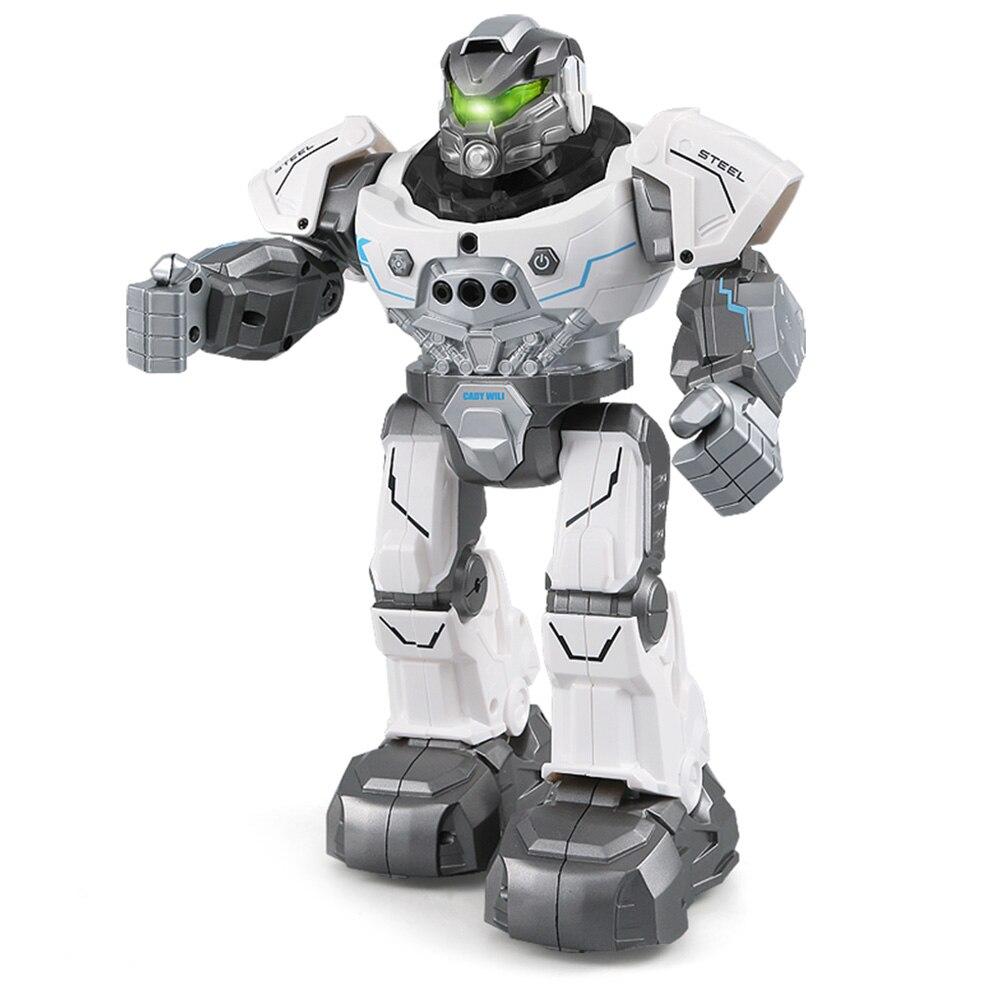 JJR/C JJRC R5 CADY WILI Smart Watch Control RC Robot Auto Follow Gesture Control Kids Toys Intelligent Robot Blue White
