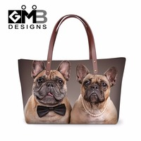 Latest Design Animal Handbags For Women Ladies Large Shoulder Handbag Dog Printed Big Tote Bags For
