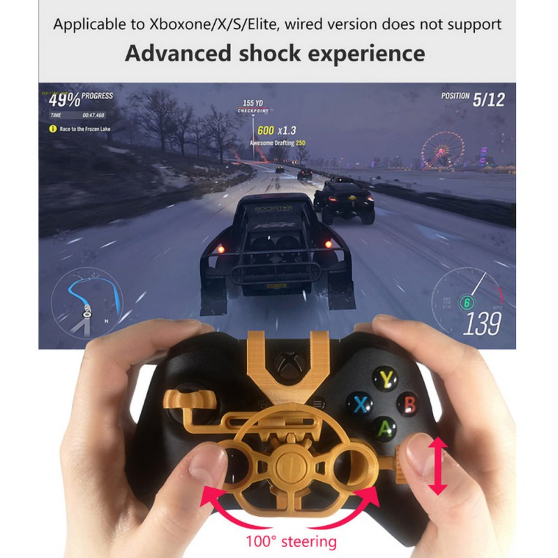 Gaming Racing Gamepad 3D Mini Steering Wheel add on for Xbox One X / Xbox One S / Elite Controller Games Accessories image