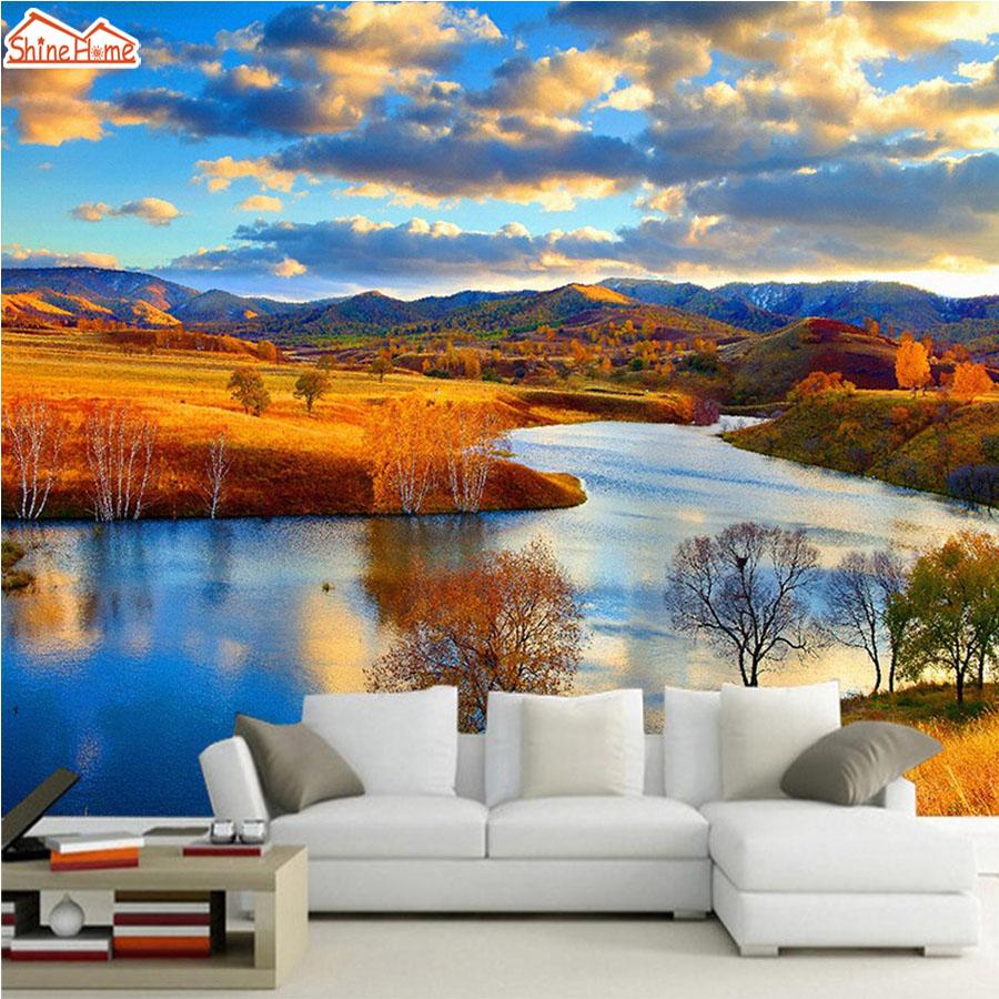 Aliexpress Com Buy 3d Walls Wallpaper Rolls Photo Wall: Aliexpress.com : Buy ShineHome DIY 3d Nature Photo