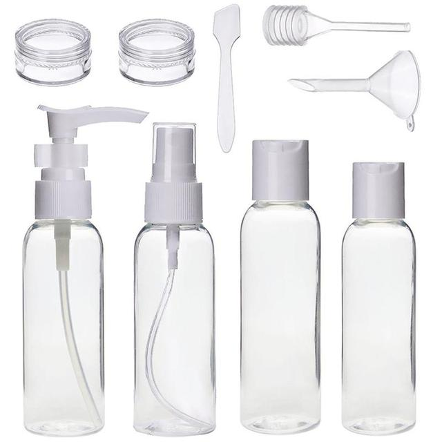 b6e3241a50 9pcs Travel Bottle Set Toiletries Liquid Containers Leak Proof Cosmetic  Makeup Holder Bottles with Bag D5