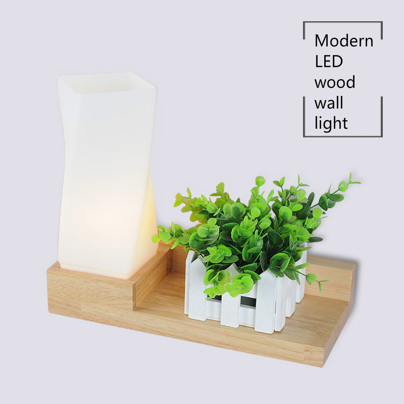 E27 Modern Style Wooden LED Wall Lamp Bed Room Bedside Wall Light Natural Solid Wood+Frosted Glass Foyer Home Decoration 121773E27 Modern Style Wooden LED Wall Lamp Bed Room Bedside Wall Light Natural Solid Wood+Frosted Glass Foyer Home Decoration 121773