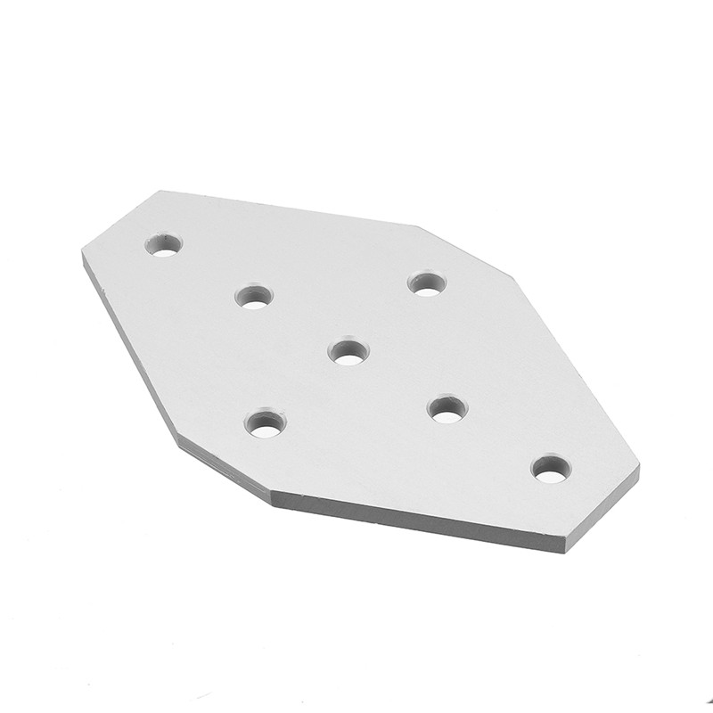 Aluminum 7 Holes Join Plate Corner Bracket for <font><b>2020</b></font> <font><b>V</b></font>-<font><b>slot</b></font> Aluminum Extrusions <font><b>Profiles</b></font> CNC Parts 100x60mm image