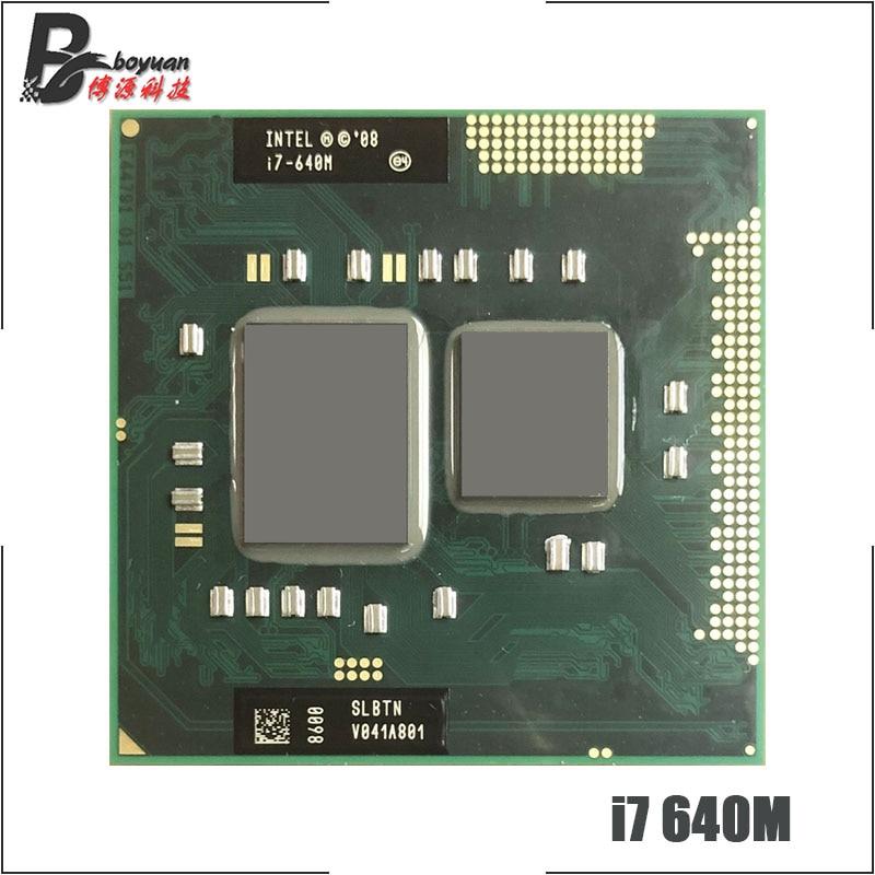 Intel Core i7 640M i7 640M SLBTN 2 8 GHz Dual Core Quad Thread CPU Processor