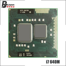 Intel Core i7-640M i7 640M SLBTN 2.8 GHz dwurdzeniowy czterordzeniowy procesor cpu 4W 35W gniazdo G1/rPGA988A