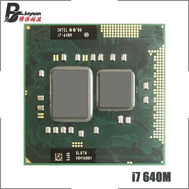 Intel Core i7 640M i7 640M SLBTN 2.8 GHz Dual Core Quad חוט מעבד מעבד 4W 35W שקע G1/rPGA988A