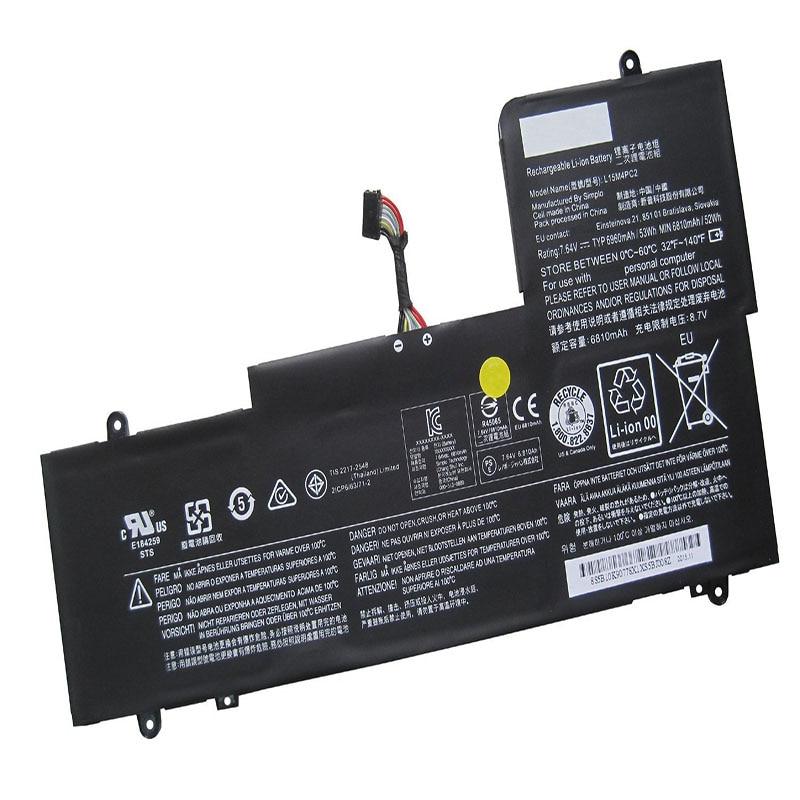 LAPTOP BATTERY L15M4PC2 ( 7.64V 6810mah 53WH ) For Lenovo Yoga 710-14ISK 5b10k90778