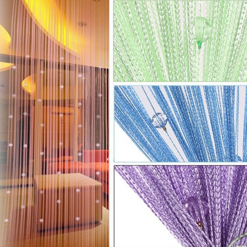 2018 Vorhang 1 Luxus Glas Perlen Tür String Quaste Vorhang Hochzeit Teiler Panel Zimmer Decor Vorhang Motor Wohnkultur